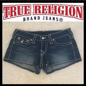True Religion Disco Josie Big T Jean Shorts